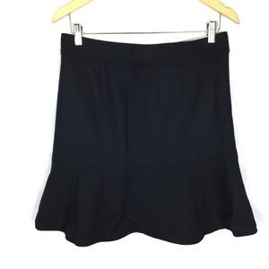 gap wool blend flare black skirt size 8
